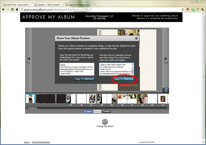 How to embed album previews into your branded website for Embed a forum into your website