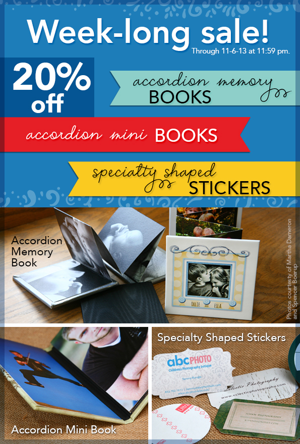 Accordion Memory Books, Accordion Mini Books, Specialty Shaped Stickers 20% off Sale