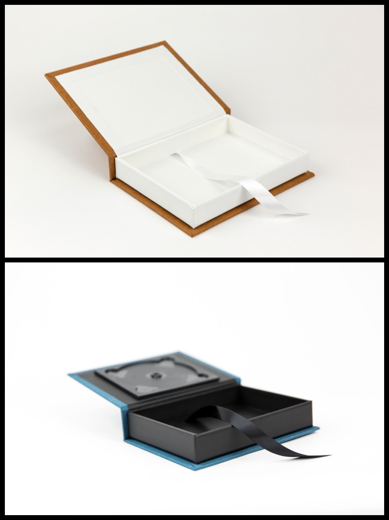 Fine Art Photo Presentation box with white liner and black liner
