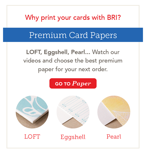 Greeting Card Paper Types