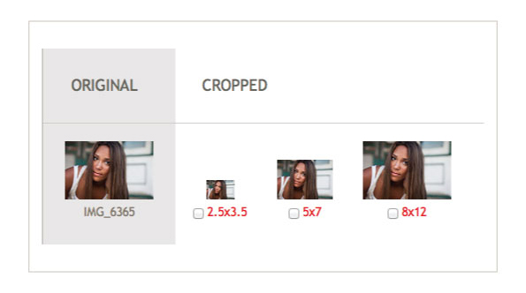 image cropping options online rapid ordering