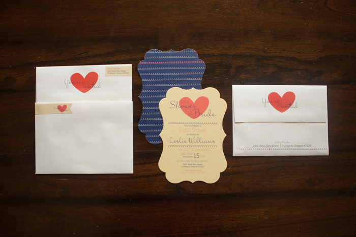 shaped loft bridal shower invitation