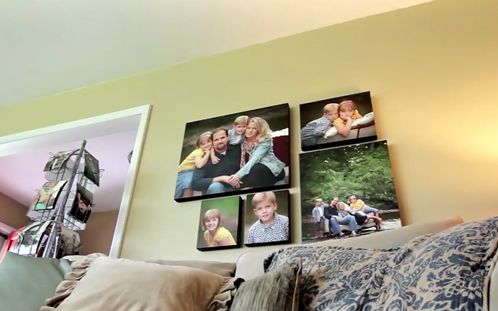 Stanout Mount Family Pictures on a wall