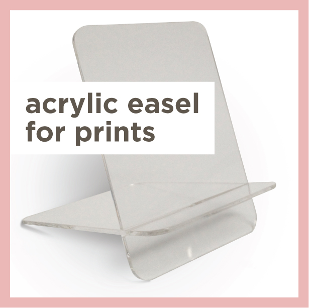 Acrylic easel for Folio Prints