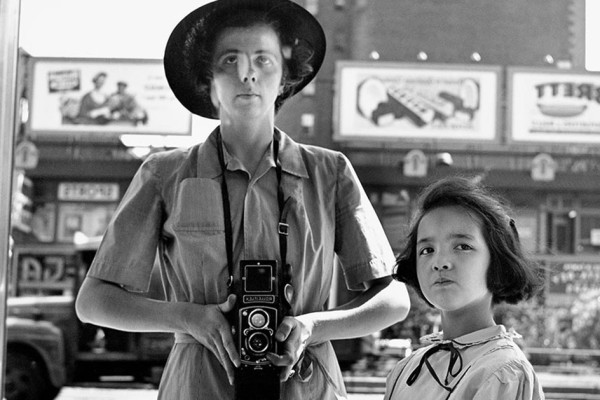 Vivian Maier self-portrait with little girl