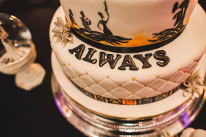 harry potter themed wedding cake