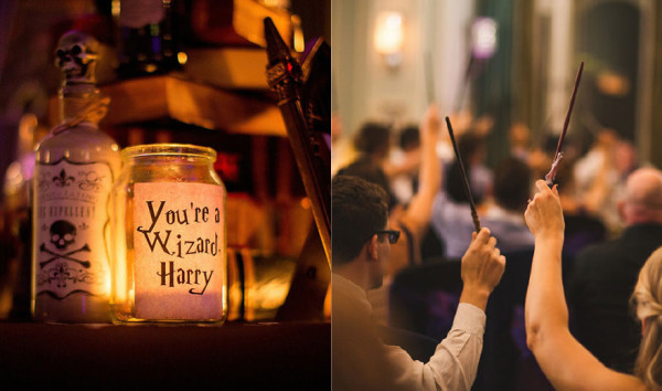 harry potter themed wedding photos