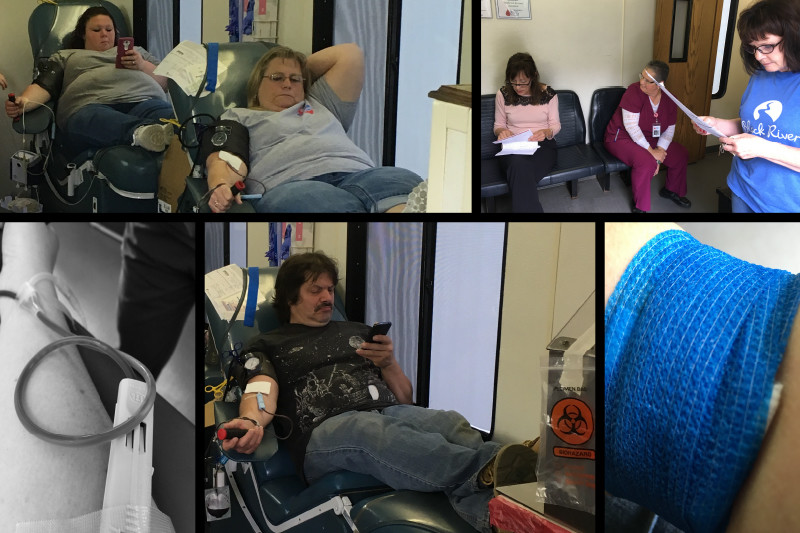 collage of black river imaging's second yearly blood drive for the community blood center of the ozarks