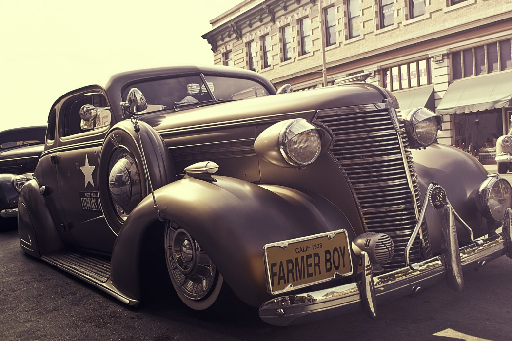 vintage car used by government agents circa 1940s