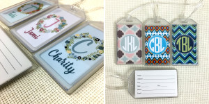collage of cute luggage tags