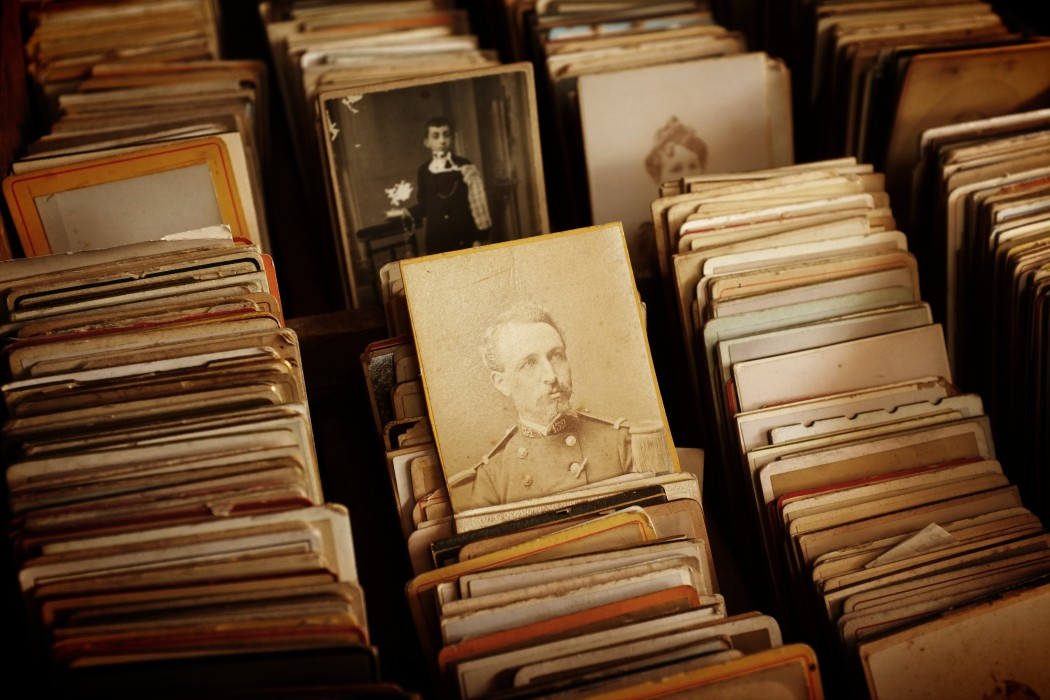 a photo of stacks of old photos