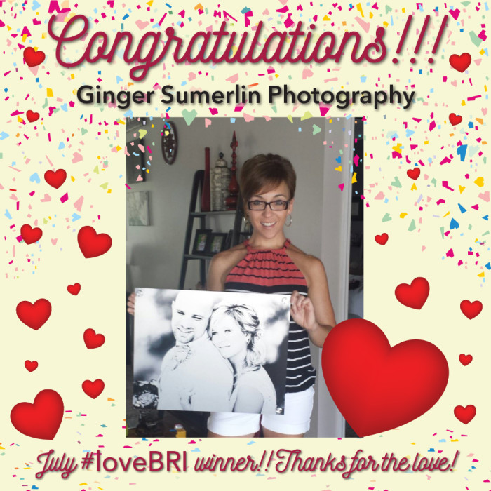 Giner Sumerlin Photography July 2016 Winner of #lovebri Drawing